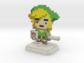 Green Elf (Waker) Pixel Figurine in Full Color Sandstone