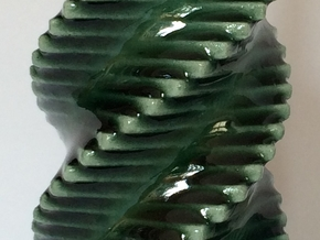 Porcelain Step Candle Holder (Small) in Gloss Oribe Green Porcelain