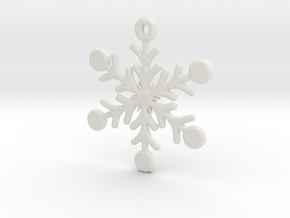 Snowflake Earring/Pendant in White Strong & Flexible
