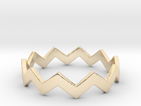Zig Zag Wave Stackable Ring Size 9 in 14K Gold