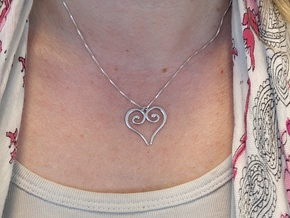 Medieval Heart in Rhodium Plated