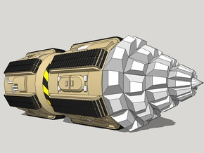 """6mm Space Dwarf """"Vole"""" Tunneling Assault Vehicle in White Strong & Flexible"""