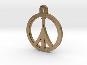 Paris Peace in Polished Gold Steel