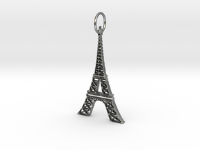 Eiffel Tower Earring Ornament in Raw Silver