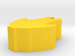 Game Piece, Core Union Attack Craft, 20mm in Yellow Strong & Flexible Polished