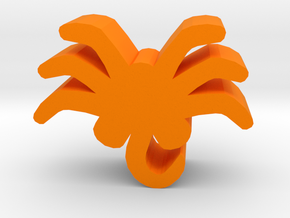 Alien Crawler Meeple in Orange Strong & Flexible Polished