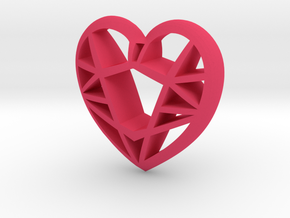 Lowpoly Heart by it's a CYN! in Pink Strong & Flexible Polished