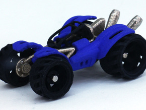 BajaRacer V1: Part 2 in set of 3 - Wheels in Black Strong & Flexible