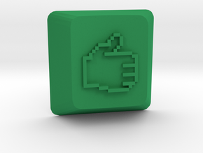 Thumbs Up Keycap - Cherry Mx  in Green Strong & Flexible Polished