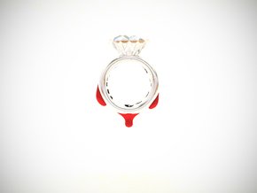 Blood Diamond Ring D18 in White Strong & Flexible Polished