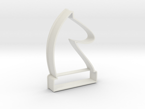 Cookie Cutter - Chess Piece Knight in White Strong & Flexible