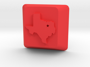 Dallas Texas Keycap Cherry Mx Switch in Red Strong & Flexible Polished