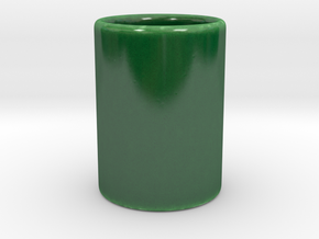 Lunar Cup in Gloss Oribe Green Porcelain
