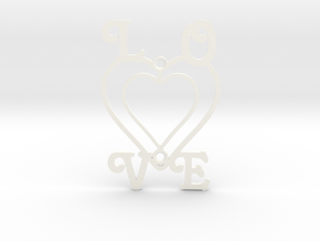 Decorative Switch Plate - Love in White Strong & Flexible Polished