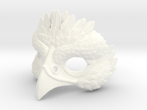 Bird Mask in White Strong & Flexible Polished