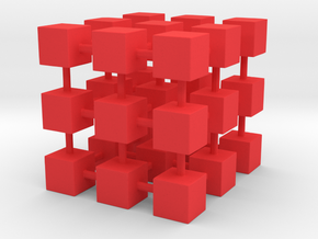 Cubes among cube in Red Strong & Flexible Polished
