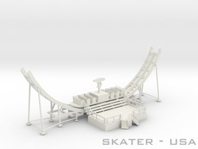 Skater Fahrweg USA - 1:87 (H0 scale) in White Strong & Flexible
