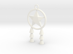 Miniature Parol in White Strong & Flexible Polished