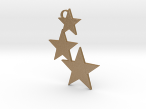 Holiday Stars Ornament in Matte Gold Steel