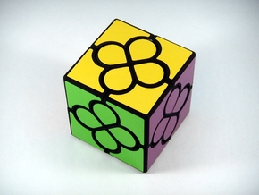 Lucky Clover Cube Puzzle in White Strong & Flexible
