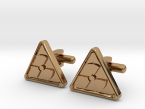RADIOACTIVE SIGN CUFFLINKS in Polished Brass