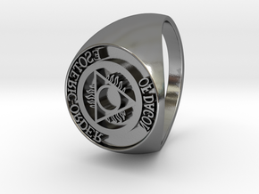 Esoteric Order Of Dagon Signet Ring Size 13.5 in Polished Silver