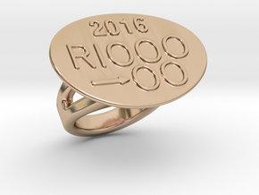 Rio 2016 Ring 25 – Italian Size 25 in 14k Rose Gold Plated