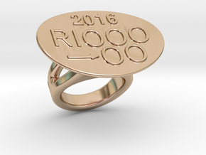 Rio 2016 Ring 32 - Italian Size 32 in 14k Rose Gold Plated