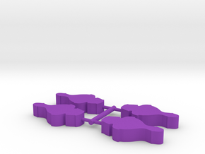 Game Piece, Alien Crusader Cruiser, 4-set in Purple Strong & Flexible Polished