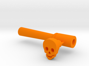 Skull leather stamp with holder/ punch tool in Orange Strong & Flexible Polished