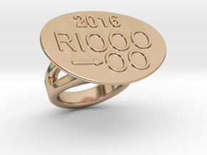 Rio 2016 Ring 19 - Italian Size 19 in 14k Rose Gold Plated