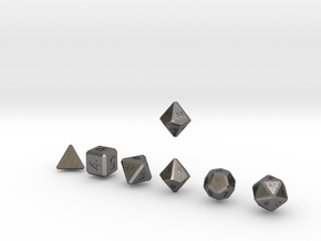 QUADRANT Bevel Innies dice in Polished Nickel Steel