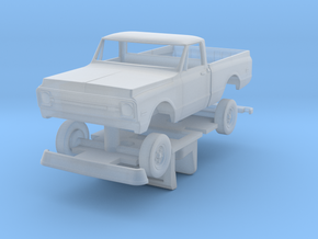 1969 -1971 HO Scale Chevy shortbed pick-up with in in Frosted Ultra Detail
