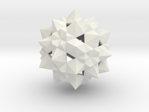 Stellated Icosidodecahedron  in White Strong & Flexible