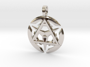 TRINITY ILLUSION in Rhodium Plated
