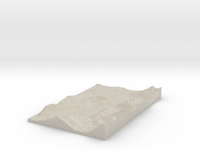 Model of Unterwerk Melide in Sandstone