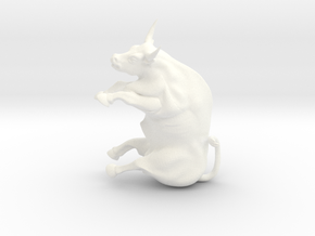 Ferdinand the bull in White Strong & Flexible Polished