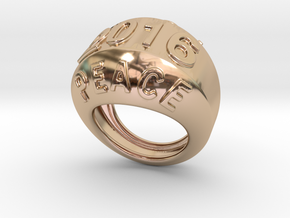 2016 Ring Of Peace 21 – Italian Size 21 in 14k Rose Gold Plated