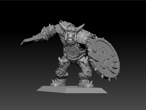 Orc Warrior 35mm Nº1 in Frosted Ultra Detail