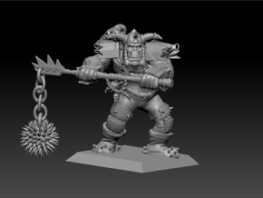 Orc Warrior 35mm Nº2 in Frosted Ultra Detail