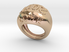 2016 Ring Of Peace 25 – Italian Size 25 in 14k Rose Gold Plated