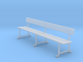 Wrought Iron station bench (O scale) in Frosted Ultra Detail