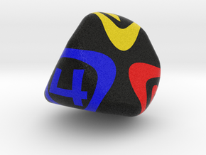 4 Sided Dice in Full Color Sandstone