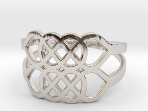 Size 6 Knot C5 in Rhodium Plated
