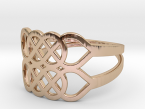 Size 8 Knot C5 in 14k Rose Gold Plated