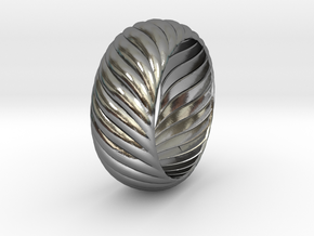 SPIRAL 1 SIZE 10 in Polished Silver