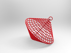 Christmas-ball Spiral in Red Strong & Flexible Polished
