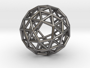 0272 Snub Dodecahedron E (a=1cm) #001 in Polished Nickel Steel