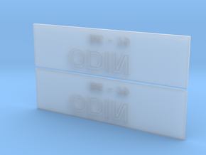 Odin Nameplate Package in Frosted Extreme Detail