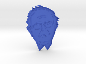 Bernie Sanders Cookie Cutter in Blue Strong & Flexible Polished